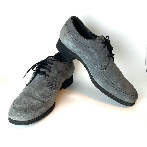 VINTAGE HUSH PUPPIES | Soft Soled Suede Gray Shoes